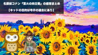 名探偵コナン『業火の向日葵』の感想ネタバレ
